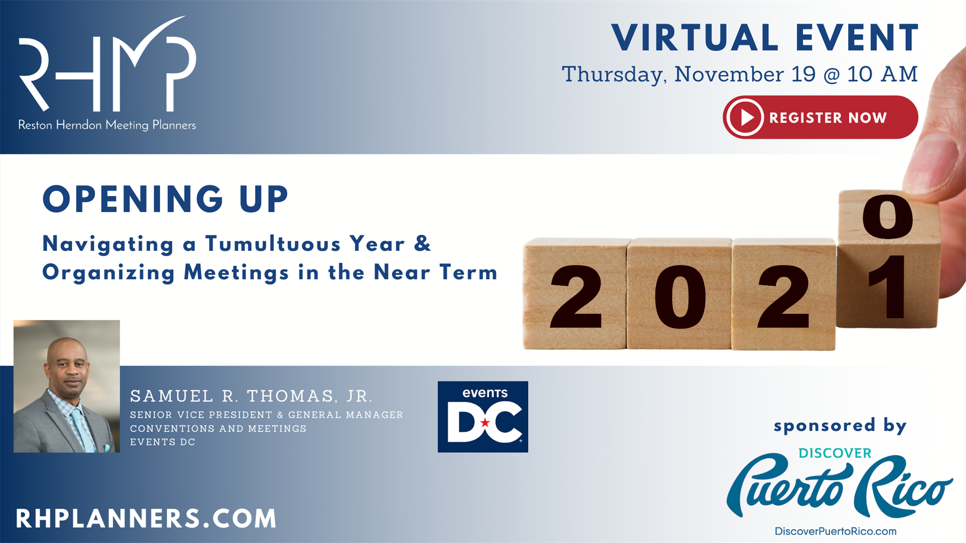 Register Now: 11/19 Virtual Session: Navigating a Tumultuous Year & Organizing Meetings in the Near Term